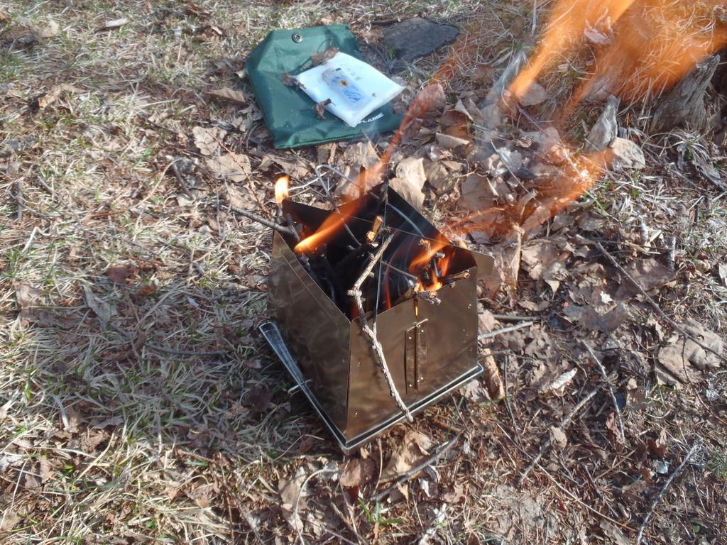 ちょっと寒いからミニ焚き火